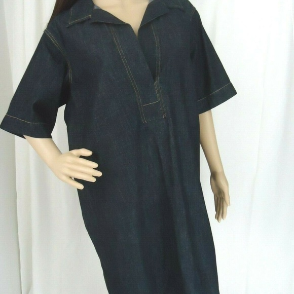Lauren Ralph Lauren Dresses & Skirts - Lauren by Ralph Lauren Denim V Neck Dress Pockets